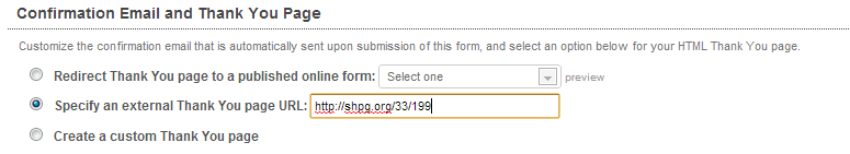 Just paste your ShareProgress into NGP to set it as your redirect URL.
