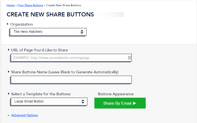 Create New Button - 1