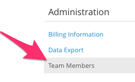 Click Team Members to begin adding a supervisor in SimplePractice