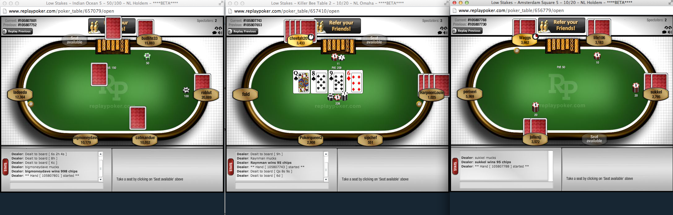 Can i play more than one game at a time replay poker to open multiple tables just click play now on any tables you want to join each new table will open in a new window gamestrikefo Images